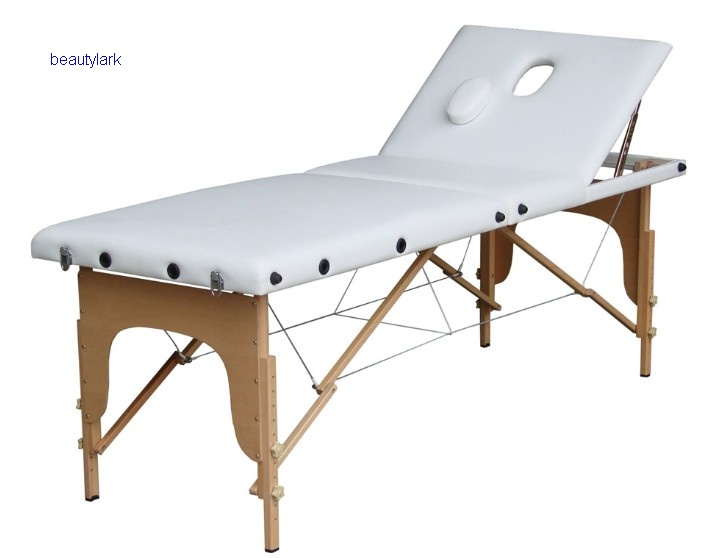 Wooden massage table